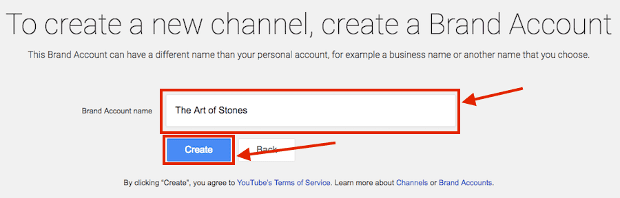 Step3 Set up your_ ouTUbe channel name